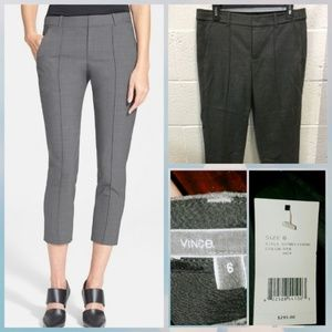 BNWT Vince Pintuck seam side tab crop pants